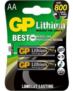 GP 15Lf AA Lithium (2 Pack) Battery