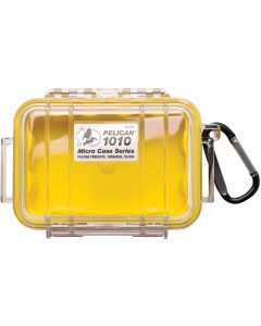 Pelican 1010 Case W/Liner -Wi-Yellow  Clear