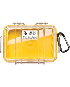 Pelican 1020 Case W/Liner -Wi-Yellow  Clear