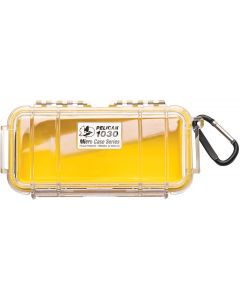 Pelican 1030 Case W/Liner- Wi--Yellow Clear